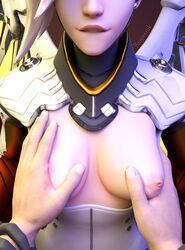 3d areolae beweirduntilvalhalla blender breast_grab breasts female male mercy nipples overwatch pov