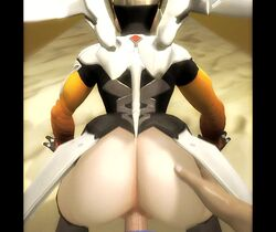 3d all_fours animated ass bent_over erection female from_behind male mercy overwatch penis pov rastafariansfm sound source_filmmaker straight webm