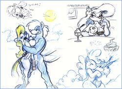 2017 animaniacs anthro balls breasts canine clothing collection cutie_mark dessert donny_squirrel duo equine female food food_play friendship_is_magic heart horse hug humanoid_penis ice_cream karri_aronen kissing male male/female mammal minerva_mink mink moon mustelid my_little_pony nipple_slip nipples nude penis pinkie_pie_(mlp) pony rodent sketch squirrel traditional_media_(artwork) vomit wilford_wolf wolf