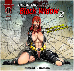 bitchsuit black_widow female gagged lezdom maledom matrial natasha_romanoff play rubber skin superheroine sweating tied tiedup tight training uniform