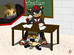 bondage bound cream_the_rabbit deepthroat oral penis radasus school shadow_the_hedgehog sonic_(series) teacher under_the_table