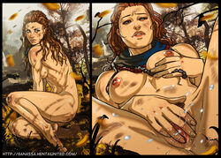 1girl aloy artist_name ass asymmetrical_hair bare_shoulders barefeet barefoot belly blue_sky braid breasts brown_eyes brown_hair bruise closed_eyes cloud day dirty eyes_closed feet female female_masturbation female_only fingering fingering_self forest ganassa grass green_eyes high_resolution hips horizon_zero_dawn human injury jewelry large_filesize legs long_hair looking_at_viewer masturbation medium_breasts miscular_female muscle muscular_female nature navel necklace nipples nude open_mouth orange_hair outdoors perky_breasts pose pussy pussy_juice red_hair sideboob sky soles solo tagme thick_lips thighs tied_hair toes toned topless tree vagina vaginal vaginal_fingering vaginal_masturbation very_high_resolution video_game web_address wet