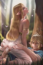 1boy 1girl anus armlet ass ass_grab barefeet barefoot blonde blonde_hair blue_eyes blush bracelet breasts breath_of_the_wild closed_eyes clothed_female_clothed_male clothed_sex covered_breasts cowgirl_position crotch_cutout cum cum_drip cum_in_pussy cum_inside cum_on_body cum_on_lower_body cum_on_penis dat_ass dress elf erect erection eyes_closed eyeshadow fairy fat_mons feet female girl_on_top grass happy_sex hetero high_resolution hips hoobamon huge_penis jewelry large_breasts large_penis legs light_rays link link_(breath_of_the_wild) lipgloss lips long_hair makeup male mascara nintendo on_ground outdoors parted_lips passionate penetration penis pointed_ears princess princess_zelda pussy realistic sex sexually_suggestive sideboob soles straddling straight strapless strapless_dress testicles the_legend_of_zelda thick_lips thighs toes torn_clothes torn_dress tree uncensored vagina vaginal vaginal_penetration vaginal_sex very_high_resolution white_dress wings zelda zelda_(breath_of_the_wild)