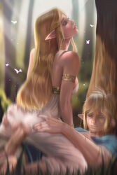 1boy 1girl anus armlet ass ass_grab barefeet barefoot blonde blonde_hair blue_eyes blush bracelet breasts breath_of_the_wild closed_eyes clothed_female_clothed_male clothed_sex covered_breasts cowgirl_position crotch_cutout dat_ass dress elf erect erection eyes_closed eyeshadow fairy fat_mons feet female girl_on_top grass happy_sex hetero high_resolution hips hoobamon huge_penis jewelry large_breasts large_penis legs light_rays link link_(breath_of_the_wild) lipgloss lips long_hair makeup male mascara nintendo on_ground outdoors parted_lips passionate penetration penis pointed_ears princess princess_zelda pussy realistic sex sexually_suggestive sideboob soles straddling straight strapless strapless_dress testicles the_legend_of_zelda thick_lips thighs toes torn_clothes torn_dress tree uncensored vagina vaginal vaginal_penetration vaginal_sex very_high_resolution white_dress wings zelda zelda_(breath_of_the_wild)
