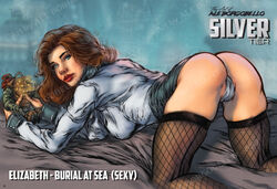 aleborgo all_fours bioshock bioshock_infinite cameltoe elizabeth female fishnet_stockings presenting solo upskirt