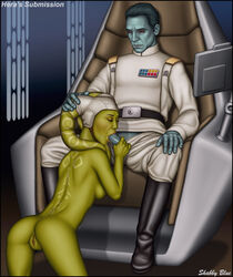 1boy 1girl alien alien_girl anus artist_name ass bare_shoulders belt black_boots black_footwear black_shoes blue_hair blue_skin boots breasts character_name closed_eyes clothed_male clothed_male_nude_female crying disney english english_text erect erection eyes_closed fellatio female footwear grand_admiral_thrawn green_skin hand_on_head hera_syndulla high_resolution hips humanoid kneeling legs lips long_hair male medium_breasts nipples nude nude_female nude_female_clothed_male oral oral_sex pants penis pussy red_eyes saliva shabby_blue shoes short_hair sideboob signature sitting spread_legs star_wars star_wars_rebels tears tentacle_hair text thigh_boots thighhighs thighs topless twi'lek uniform vagina veins