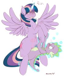 2013 alicorn balooga blush cowgirl_position cum cum_in_pussy cum_in_uterus cum_inside cumshot cutie_mark dialogue dragon duo ejaculation english_text equine erection feathered_wings feathers female feral friendship_is_magic fur green_eyes hair heart hi_res horn internal interspecies male male_penetrating mammal multicolored_hair my_little_pony nude on_top orgasm penetration penis purple_eyes purple_fur purple_hair pussy scalie sex simple_background spike_(mlp) straddling straight text twilight_sparkle_(mlp) two_tone_hair uterus vaginal_penetration white_background wings