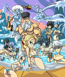 5boys 5girls abs adventure_time arms_up arthas_menethil back_view bare_shoulders barefoot beer bent_over big_breasts bikini bikini_bottom bikini_top black_eyes black_hair blonde_hair blue_eyes blue_hair blue_skin blush bobby_drake bottle bracelet bracer braid busty butt_crack caitlin_snow cartoon_network cleavage closed_eyes crossed_arms crossed_legs crossover crown curvy dc dc_comics detailed_background disney disney_fairies elsa_(frozen) fairy fairy_tail fairy_wings female front_view frost_(mortal_kombat) frozen_(movie) gray_fullbuster group hair_bun happy hat helmet holding_object hourglass_figure human ice ice_queen iceman jack_frost killer_frost lich lich_king long_eyebrows long_hair looking_at_viewer looking_down male manic47 marvel marvel_comics mask mortal_kombat multiple_boys multiple_females multiple_girls multiple_males muscle musclular mutant naked necklace nude outdoor outside pale_skin partially_submerged periwinkle pointy_ears pool pose posing prince princess queen rise_of_the_guardians royalty santa santa_claus shiny shiny_skin sitting skimpy sling_bikini smile snow standing steam string_bikini sub-zero submerged swimsui sword tatoo teenage tree undead underboob very_long_hair video_game video_games voluptuous warcraft water weapon white_eyes white_hair white_skin wide_hips wine_glass wings winter x-men yellow_hair