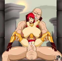 animated bouncing_breasts high_heel_boots large_breasts pyrrha_nikos red_hair rwby stomach_bulge