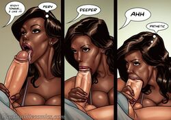 big_breasts big_penis bimbo black_'n'_white_comics comic dark-skinned_female dark_skin female interracial male pale-skinned_male pale_skin sex the_mayor thick_penis yair