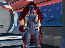 alien asari krogan liara_t'soni mass_effect panties panties_down urdnot_wrex video_games