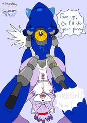 anal anus asmartboy ass blaze_the_cat breasts metal_sonic nipple pussy sonic_(series)