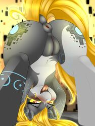 2015 alternate_species anus ass blush camychan crossover equine female feral fucked_silly hi_res horse mammal midna my_little_pony nintendo ponification pony presenting presenting_hindquarters pussy solo the_legend_of_zelda twilight_princess video_games
