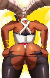 arms_(game) ass corset dark_skin naavs panties torn_clothes twintails twintelle