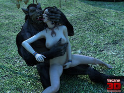 3d_(artwork) canine digital_media_(artwork) female french_kissing human insane3d interspecies kissing male male/female mammal masturbation tongue were werewolf