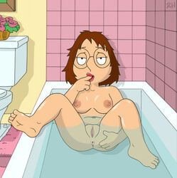 anus ass astrohamus bath breasts brown_hair family_guy female glasses meg_griffin nipples pussy solo