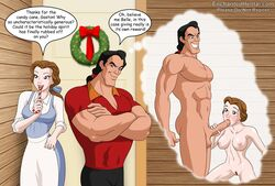 beauty_and_the_beast belle christmas disney enchantedhentai.com gaston tagme