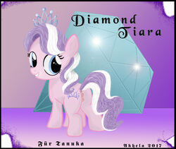 ass cutie_mark diamond_tiara_(mlp) earth_pony equine female feral friendship_is_magic hair hi_res horse mammal multicolored_hair my_little_pony pony pussy solo two_tone_hair
