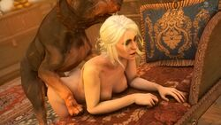 3d animated ass bent_over canine ciri darktronicksfm dog female no_sound nude sex source_filmmaker the_witcher the_witcher_3 webm white_hair zoophilia