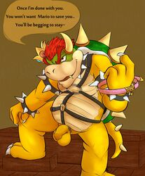 balls bowser collar happytrolly koopa male mario_bros nintendo penis scalie uncut video_games