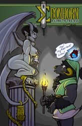 3_fingers 4_toes angry ankle_cuffs anthro arched_back areola biceps black_fur black_hair black_nose black_tail bovine breasts bulge cali'fon_(sinister) candle chains claws clothed clothing comic cover cover_page crouching demon dialogue dickgirl ear_piercing ebonhorn_(foxxeh) english_text erect_nipples erection evil_grin eye_contact eyebrows facial_piercing fairy fire fully_clothed fur gradient_background grey_background grey_eyes grey_lips grey_nipples grey_penis grey_skin grey_tail grey_wings group hair half-closed_eyes holding_object horn humanoid humanoid_penis intersex looking_down looking_up male mammal membranous_wings minotaur nintendo nipples nose_piercing nose_ring nude penis phrygian_cap piercing pillar portrait red_hair sex_toy shackles shia shocked short_hair side_view simple_background smile speech_bubble standing stare tail_tuft text the_legend_of_zelda three-quarter_portrait toe_claws toes torch tuft tunic underwear vibrator video_games wing_claws wings