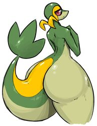 anthro ass big_butt dragon-heart femboy girly huge_butt louise_the_snivy male male_only nocom pokemon pumpkybutt red_eyes snake snivy solo tail wide_hips