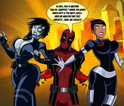deadpool domino domino_(marvel) grimphantom maria_hill marvel the_avengers:_earth's_mightiest_heroes
