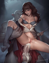 anal anal_sex anus areolae belly_bulge bra breasts cum cum_in_ass cum_inside erection female harry_potter hermione_granger male nipples penetration penis pussy sex spread_legs straight tarakanovich
