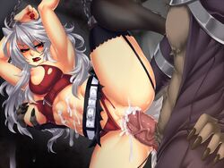 1boy abs angry animal_ears arms_over_head belt biting_lip blush bondage bondage breast_grab breasts chains clothed_sex crescentia cum cum_in_pussy cum_on_body cum_on_wall deathblight deathblight_rpg demon erection female ferania_(deathblight) functionally_nude fur furry game_cg game_over garters glans handcuffs helpless high_heels large_breasts leg_up lips lipstick locker long_hair long_nails nail_polish navel nipples panties panties_aside penis pussy rape red_eyes red_panties restrained sex shoes silver_hair skirt solo spread_legs tail tank_top teeth thighhighs torn_clothes uncensored underwear vaginal_penetration veins wall white_hair wolf_ears wolf_girl wolf_tail zipper