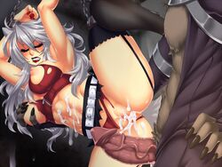 1boy abs after_sex angry animal_ears arms_over_head belt blush bondage bondage breast_grab breasts chains closed_eyes crescentia cum cum_in_pussy cum_on_body cum_on_wall deathblight deathblight_rpg demon erection female ferania_(deathblight) functionally_nude fur game_cg game_over garters glans handcuffs helpless high_heels imminent_rape imminent_sex large_breasts leg_up lips lipstick locker long_hair long_nails nail_polish navel nipples panties panties_aside penis pussy red_panties restrained shoes silver_hair skirt solo spread_legs tail tank_top teeth thighhighs torn_clothes uncensored veins wall white_hair wolf_ears wolf_girl wolf_tail zipper