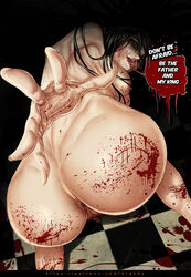 alma_wade anus areolae ass blood breasts english f.e.a.r._2 female floor hands krabby_(artist) long_hair looking_at_viewer nails nipple nose pubic_hair pussy tongue yellow_eyes