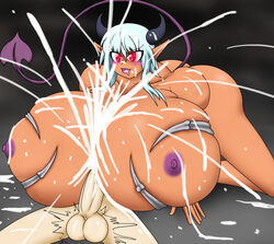 69 2017 balls big_breasts blush breasts cum cum_between_breasts cum_explosion cum_on_breasts cumshot demon domination drooling duo ejaculation erection excessive_cum female female_on_top femdom glowing glowing_eyes hair horn huge_breasts humanoid hyper hyper_breasts larger_female male male/female mammal necrophia nipples not_furry nude on_top orgasm paizuri penis pointy_ears saliva sex size_difference smaller_male smile titjob