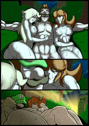 luigi mad-project nintendo princess_daisy princess_rosalina super_mario_bros. super_mario_galaxy super_smash_bros threesome