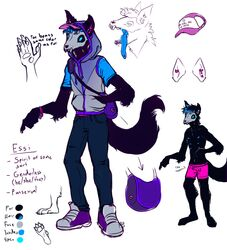 2017 anthro black_fur bracelet canine clothed clothing colored_sketch ear_piercing fully_clothed fur hair hat hoodie jeans jewelry long_tongue male mammal model_sheet multi_nipple multicolored_hair mutisija nipples pants pawpads paws piercing sketch skinny solo teeth tongue tongue_out tongue_piercing topless two_tone_hair undead underwear wolf