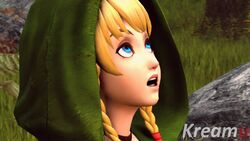 3d animated bbc blonde_hair blue_eyes dark-skinned_male erection interracial kreamu linkle open_mouth penis shy surprised tagme the_legend_of_zelda webm