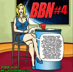 bbn_4 bimbo blonde_hair english_text female illustrated-interracial pregnant solo text