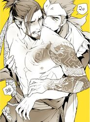 brothers family genji_(overwatch) hanzo_(overwatch) incest male_focus overwatch siblings tagme yaoi