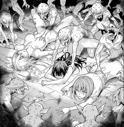 13boys 3girls 6+boys broken_rape_victim female gangbang gangrape goblin goblin_slayer human male rape tagme