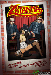 alx breasts dc fishnet_thighhighs justice_league poster pussy zatanna_zatara