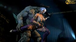 1boy 1girl 3d anal animated areolae big_breasts bouncing_breasts breasts crossover cum cum_inside cum_out_mouth cum_through erection female human inflation interspecies isabella_valentine juliojakers khnum large_breasts male monster nipples penis scalie sex size_difference soul_calibur sound source_filmmaker stomach_bulge straight text watermark webm
