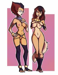 animal_humanoid breasts duo female humanoid looking_at_viewer luraiokun pussy thundercats wilykit