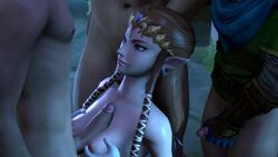 1girl 3boys 3d animated breast_squeeze brown_hair cuckold female link male masturbation no_sound ntr paizuri pointy_ears princess_zelda secazz small_penis small_penis_humiliation source_filmmaker straight the_legend_of_zelda tiara tiny_penis webm