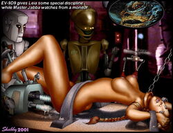 bondage chains droid ev-9d9 fucking_machine high_tech jabba_the_hutt machine princess_leia_organa return_of_the_jedi shabby_blue star_wars steel_bondage
