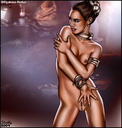 landing_strip princess_leia_organa return_of_the_jedi shabby_blue slave_leia star_wars