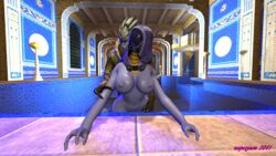 2017 3d_(artwork) alien bent_over bioware breasts digital_media(artwork) digital_media_(artwork) duo female from_behind_(disambiguation) garrus_vakarian happy happy_sex hi_res humanoid inside invalid_tag jewelry looking_back male mask mass_effect necklace nipples nude penetration pool_(disambiguation) quarian quarrian raised_arm realistic sex superjam tali'zorah turian vaginal_penetration vaginal_penetration video_games water