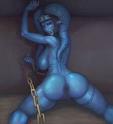 34-san absurdres anus areolae ass big_breasts breasts female female_only highres large_breasts looking_at_viewer looking_back nipples nude pussy solo star_wars twi'lek