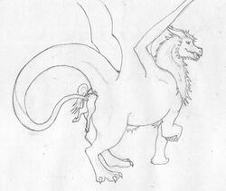 2017 ambiguous/ambiguous ambiguous_gender anal anal_vore anus ass badboy13 dragon duo equine feral feral_on_feral fur furred_dragon horn horse living_insertion mammal mane monochrome nude open_mouth presenting presenting_hindquarters raised_tail rear_view rime sex simple_background size_difference sketch smile soft_vore tail_sex tongue tongue_out traditional_media_(artwork) vore white_background wings