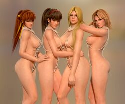 3d dead_or_alive helena_douglas hitomi kasumi multiple_females nude radianteld tina_armstrong xps