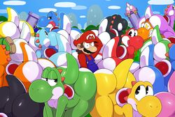 ambiguous_gender bedroom_eyes big_butt male mario presenting sssonic2 super_mario_bros. surprised tongue tongue_out yoshi