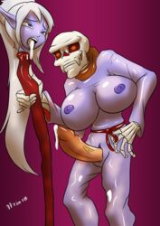 1boy 1girl after_sex aftersex ahegao bad_end blood bodysuit clothed creepy cum cum_in_mouth cum_leaking cum_on_legs dark_elf dead death decapitation elf erection female game_over glowing_eyes gore guro headless hitori09 huge_breasts humiliation lich long_hair mage male manaworld naked necrophilia nude open_mouth penetration ponytail purple_background purple_eyes purple_skin red_eyes revenge rickard_grey scarf shadow_elf skeleton skinned skinsuit skull snuff staff syx tongue_out trophy undead used vaginal_penetration white_hair